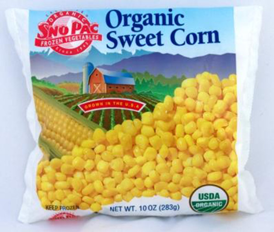 Click to enlarge Certified Organic Frozen Sweet Corn