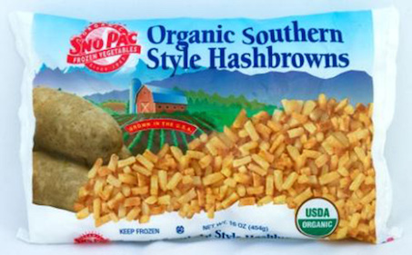 Click to enlarge Certified Organic Southern Style Hasbrowns (Frozen Diced Potatoes)