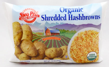Click to enlarge Certified Organic Frozen Shredded Hashbrown Potatoes