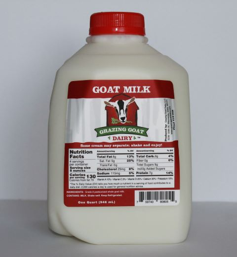 Click to enlarge Whole Goat Milk