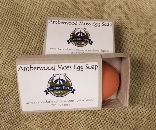 Click to enlarge Amberwood Moss Natural Egg Soap