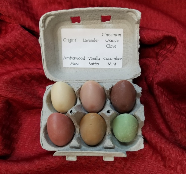 Click to enlarge Natural Egg Soap Sampler
