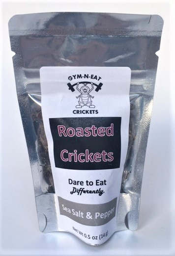 Click to enlarge Sea Salt&Pepper Roasted Crickets