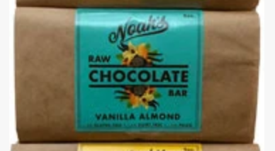 Click to enlarge Noah's Raw Chocolate Vanilla Almond Bar