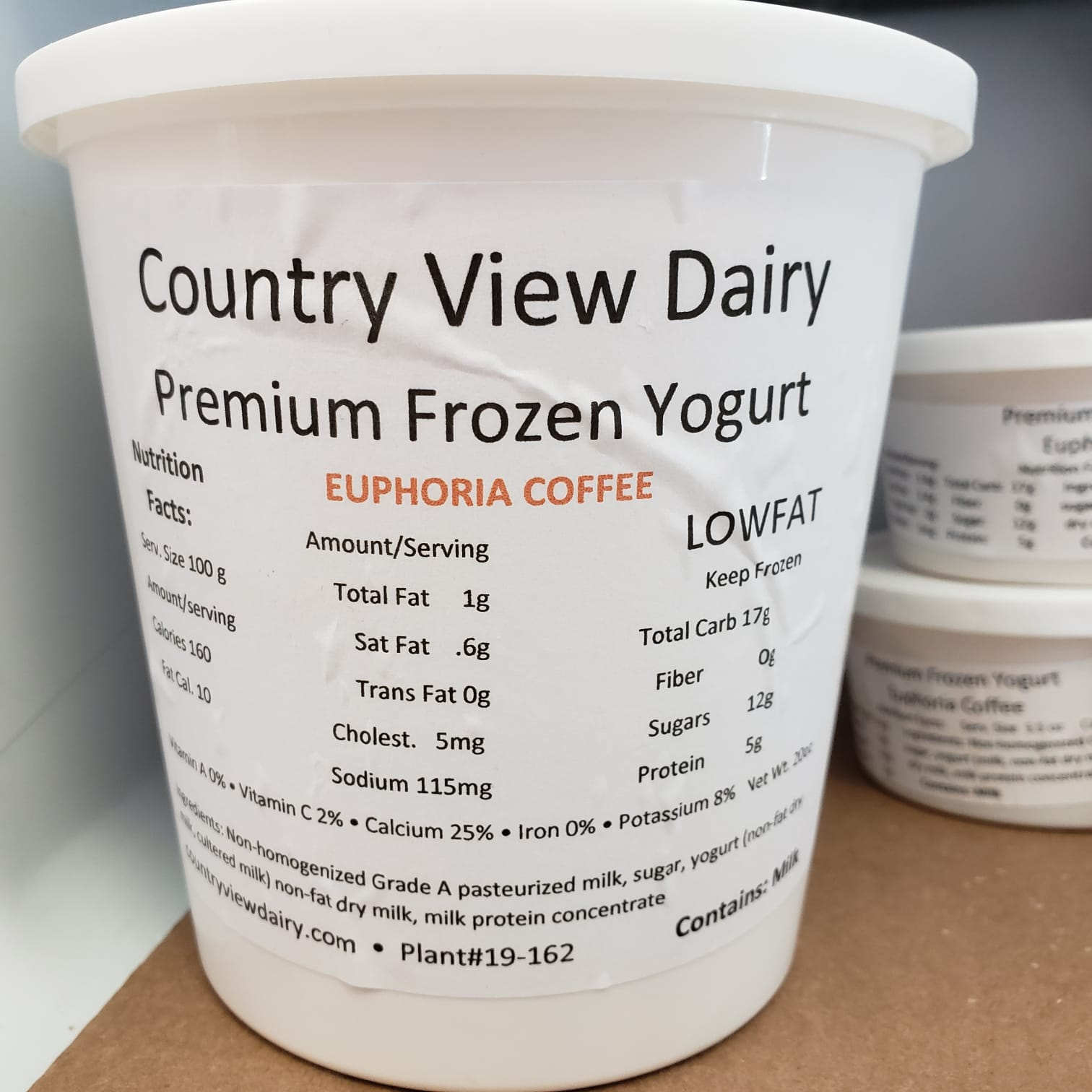 Click to enlarge Frozen Yogurt 20 oz Tub of Vanilla