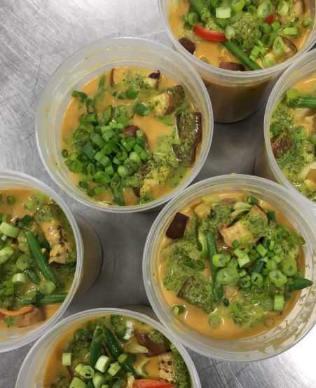 Click to enlarge Lola's Peanut Soup/Kare kare(vegan)