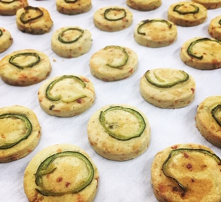 Click to enlarge Jalapeño and Cheddar Shortbreads