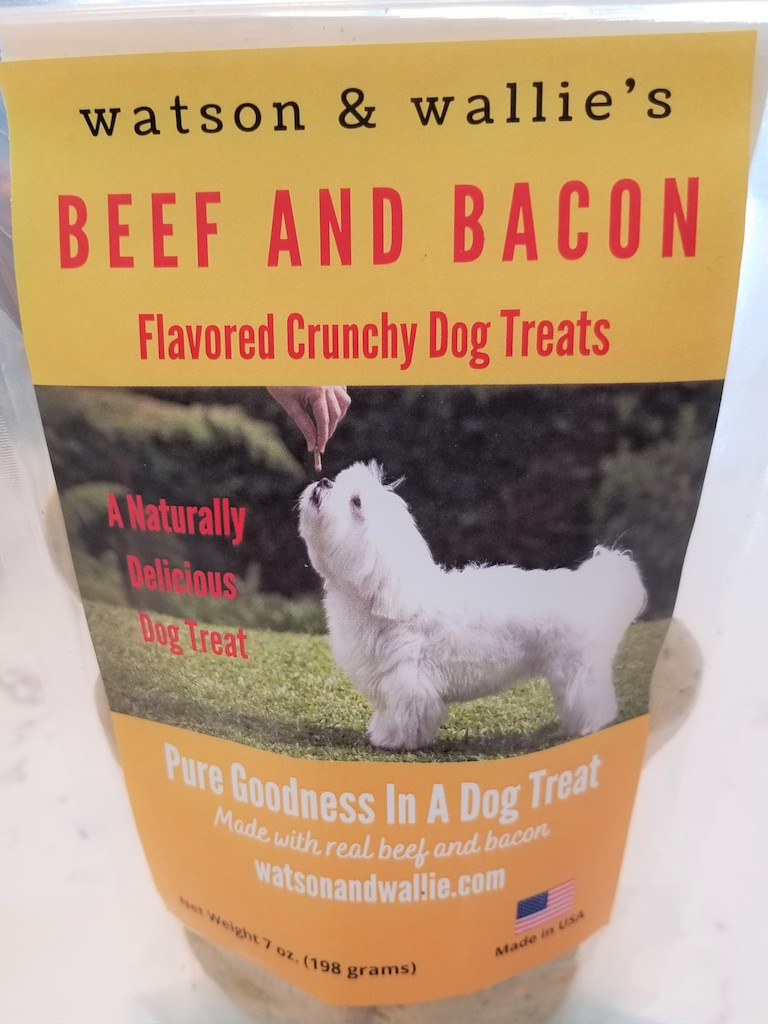 Click to enlarge Watson & Wallie Beef & Bacon Flavored Dog Treat