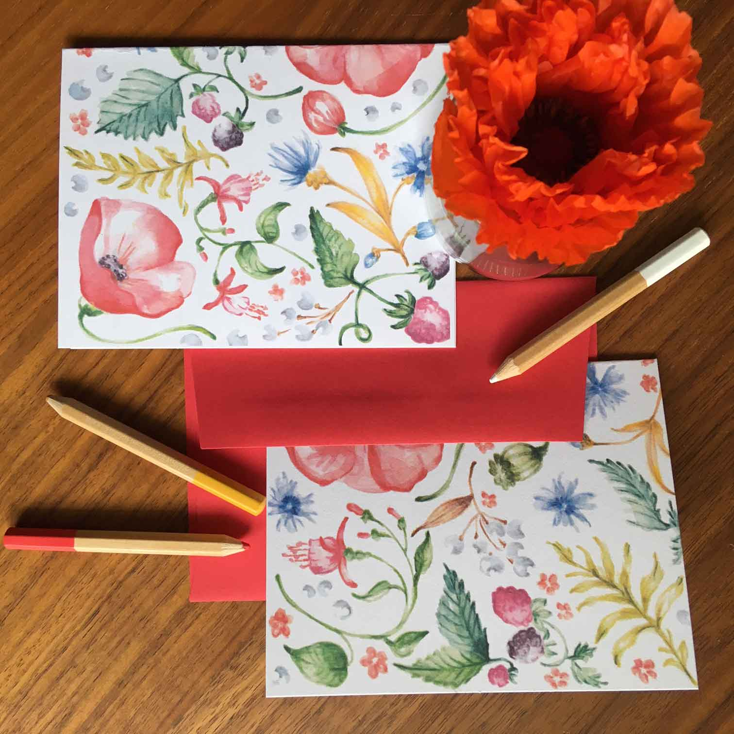 Click to enlarge Wildflower Notecards Box Set