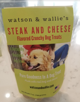 Click to enlarge Steak and Cheese Flavored Dog Treats 7 oz Bag