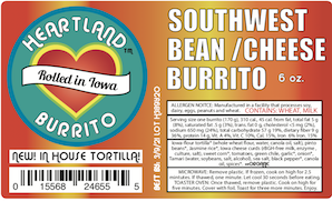 Click to enlarge Southwest Bean/Cheese Burrito