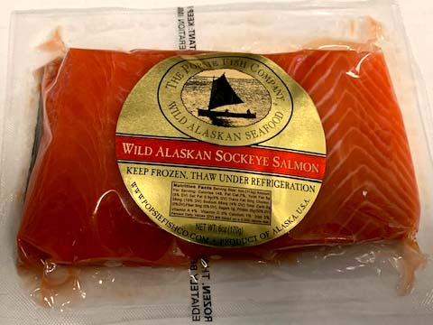 Click to enlarge Sockeye Portion Fillet