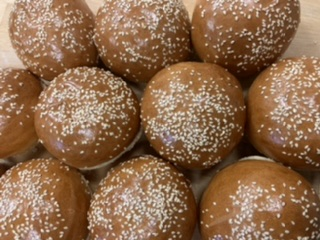 Click to enlarge White Sesame Buns