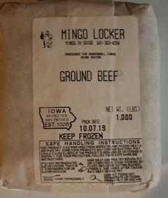 Click to enlarge Grass fed Dexter Ground Beef ON SALE!!(PKG Date 10/2019)