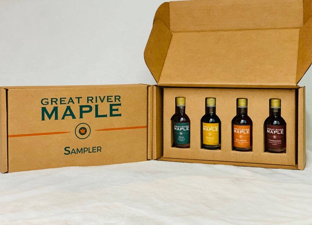 Click to enlarge Maple Syrup Sampler Box