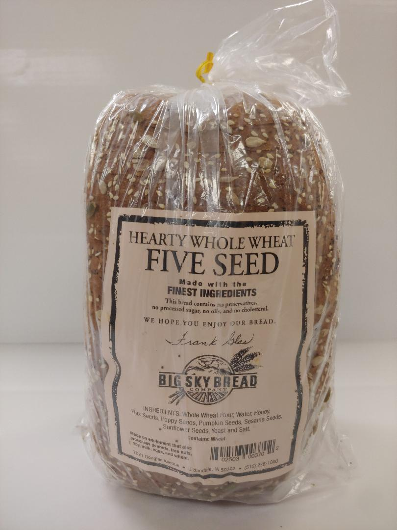Click to enlarge Hearty Whole Wheat 5 Seed Bread