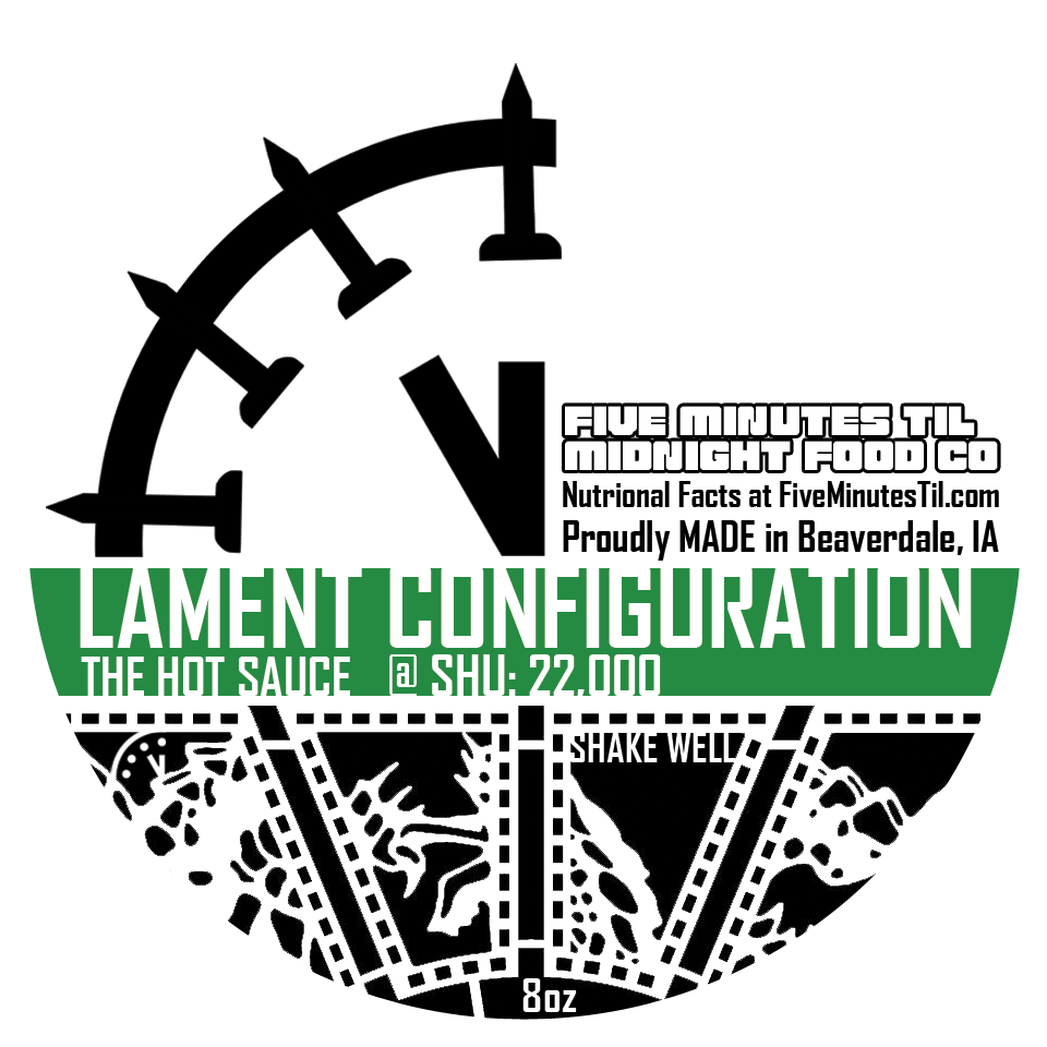 Click to enlarge Lament Configuration Hot Sauce - Verde