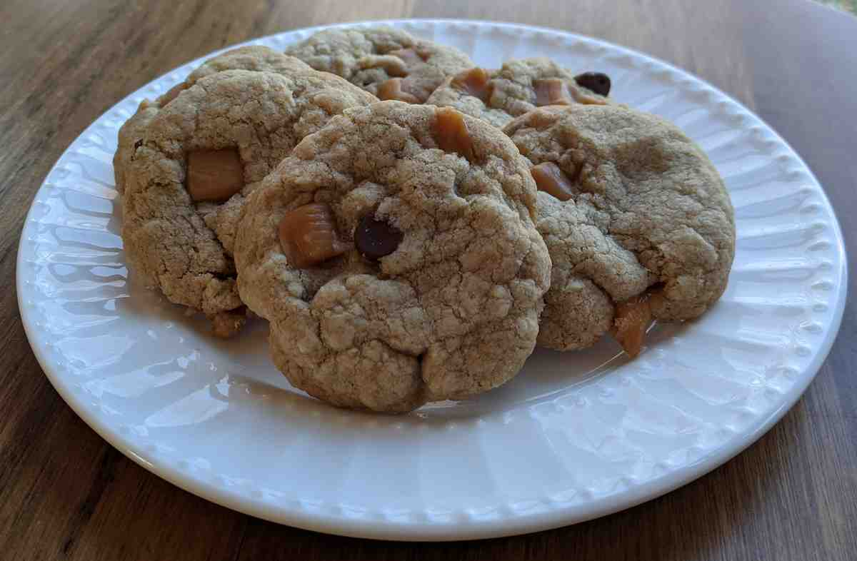 Click to enlarge Gluten Free Oatmeal Caramel Chocolate Chip Cookies