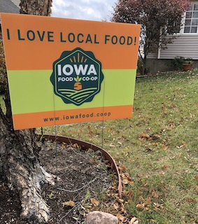 Click to enlarge I Love Local Food Yard Sign