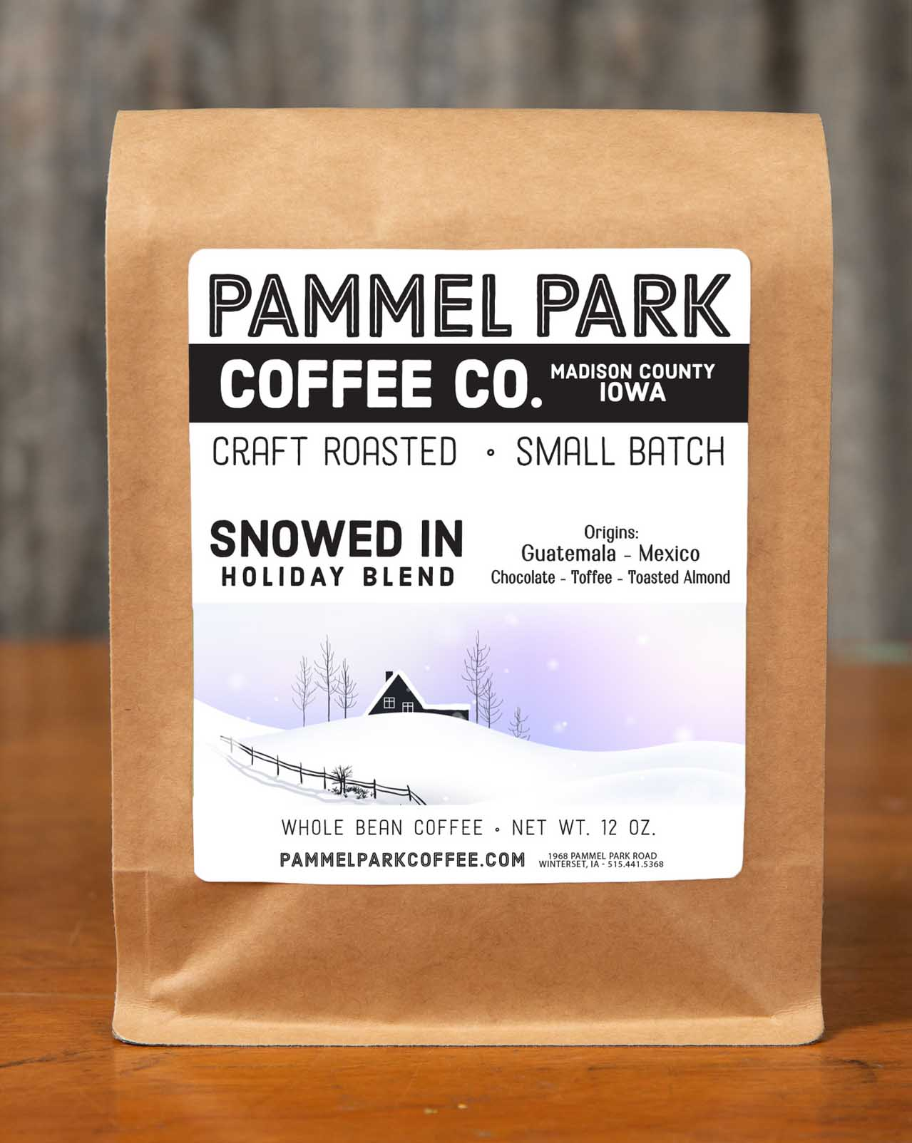 Click to enlarge A WINTER BLEND - SNOWED IN!