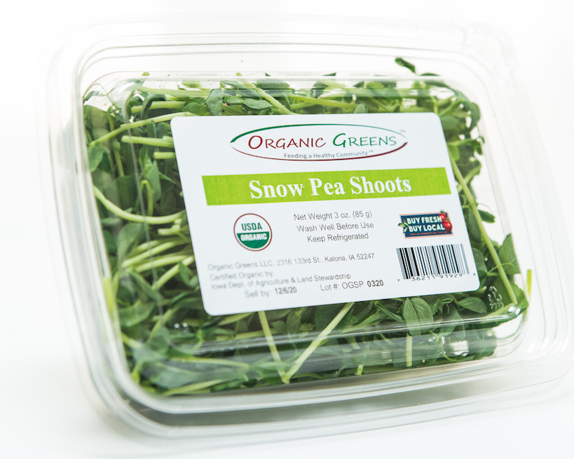 Click to enlarge Snow Pea Shoots, Organic, 3 oz