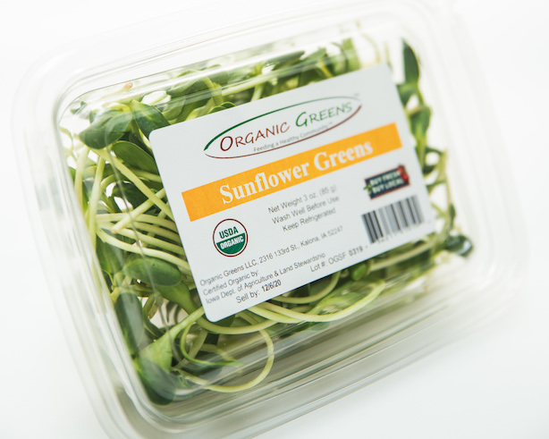 Click to enlarge Sunflower Greens, Organic, 3 oz