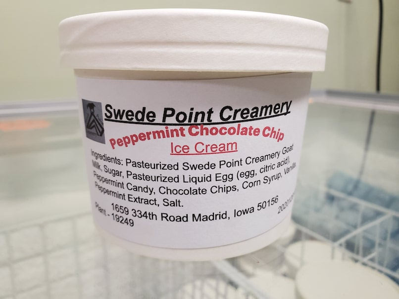 Click to enlarge *NEW*NEW*NEW* Peppermint Chocolate Chip Goat Milk Ice Cream