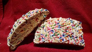 Click to enlarge Birthday Cake Biscotti (6 sticks/package)
