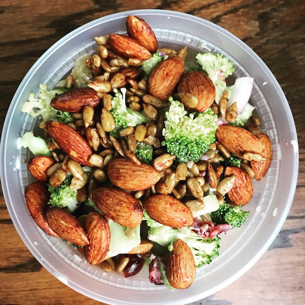 Click to enlarge Broccoli Crunch w/ Tamari Kissed Almonds