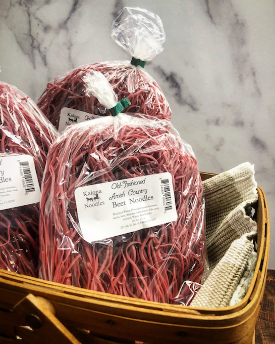 Click to enlarge Amish Country Beet Noodles