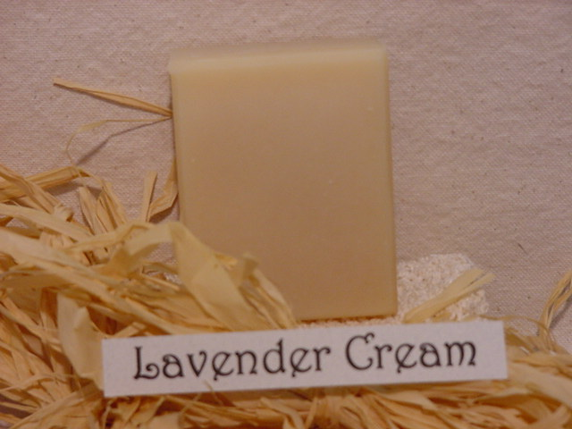 Click to enlarge Lavender Cream Goat Milk Soap