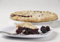 Click to enlarge Frozen Blackberry Pie 9""