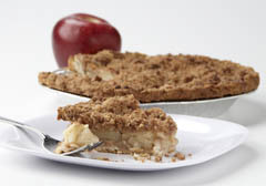 Click to enlarge Frozen Dutch Crumb Apple Pie 9""