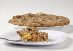 Click to enlarge Frozen Dutch Crumb Peach Pie 9""
