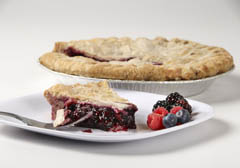 Click to enlarge Frozen Mixed Berry Pie 9""