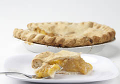 Click to enlarge Frozen Peach Pie 9""