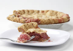 Click to enlarge Frozen Rhubarb Pie 9""