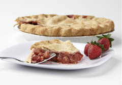 Click to enlarge Frozen Strawberry Rhubarb Pie 9""
