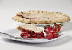 Click to enlarge Frozen Strazberry Pie 9""