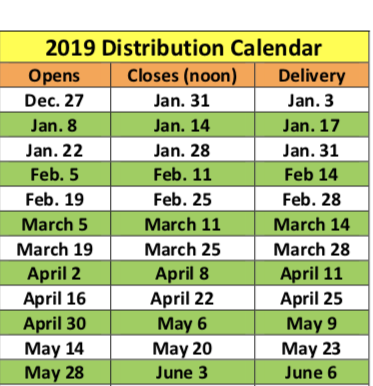 2019 Calendar is Here!